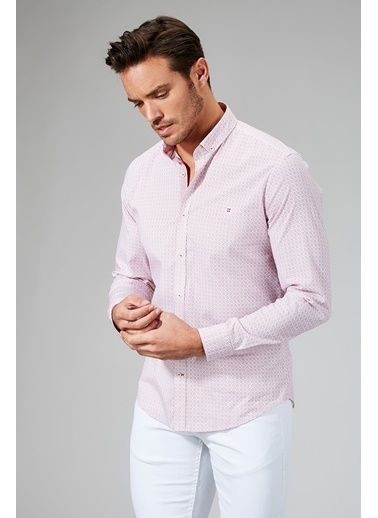 Avva Slim Fit Uzun Kollu Gömlek Kırmızı